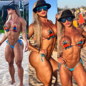 awesome babe with muscle body and muscle ass post from facebook