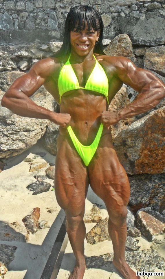 perfect female bodybuilder with fitness body and toned biceps picture from tumblr