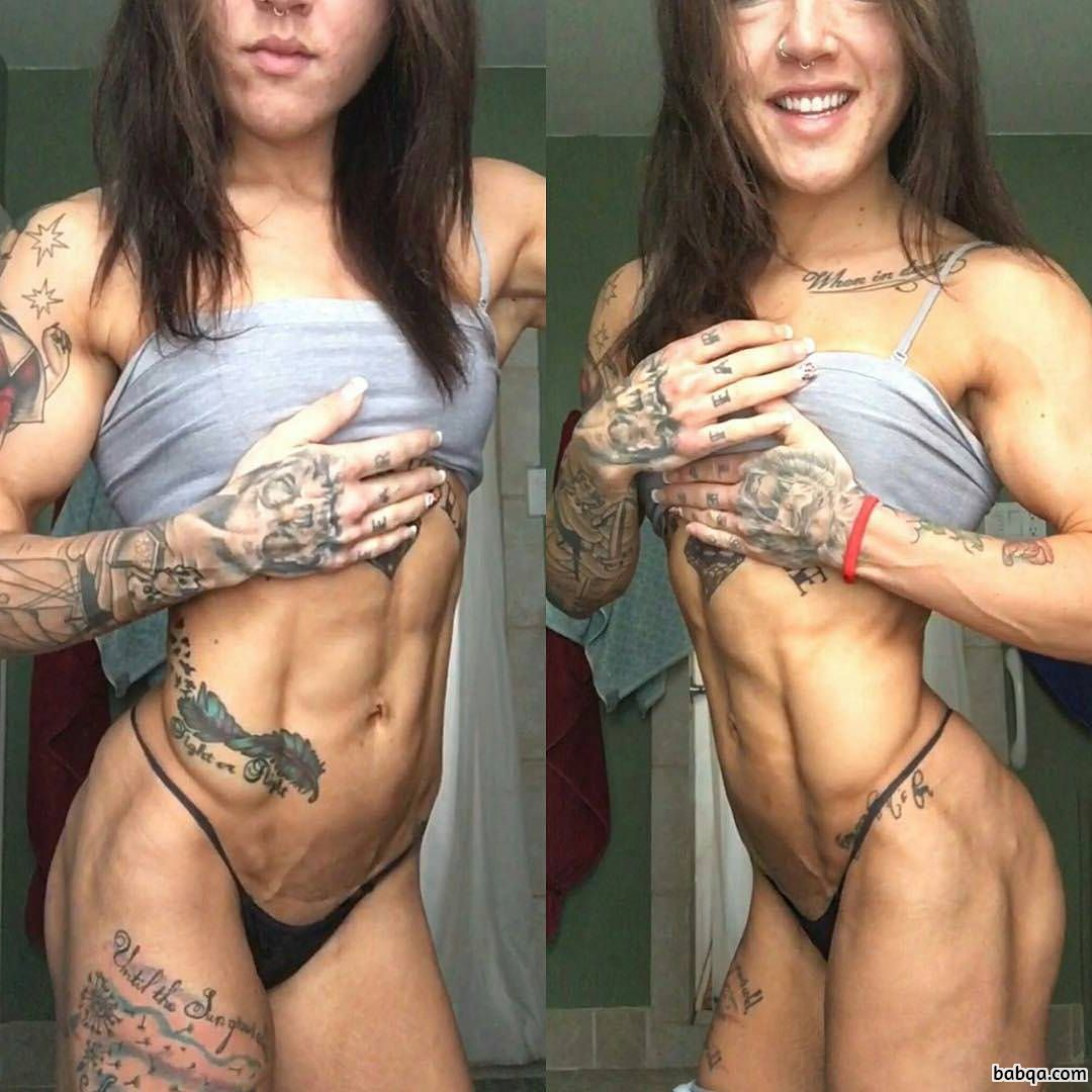 perfect woman with muscle body and muscle arms picture from flickr