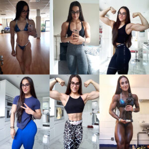 awesome woman with fitness body and muscle bottom pic from instagram