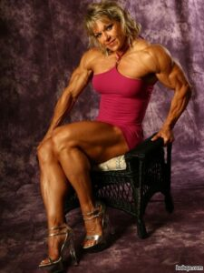 sexy female bodybuilder with fitness body and toned arms pic from flickr