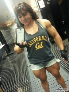 hottest lady with muscular body and muscle booty pic from tumblr