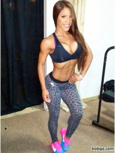 hottest female bodybuilder with strong body and muscle arms repost from instagram