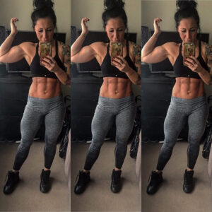 sexy female bodybuilder with strong body and toned booty pic from linkedin
