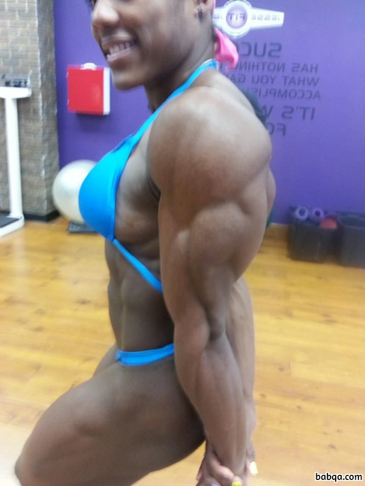 hottest woman with muscle body and toned arms photo from facebook