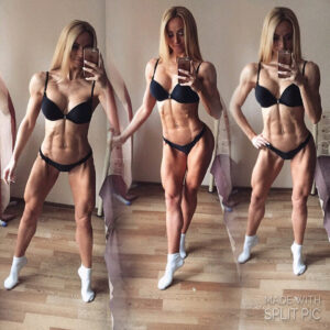 sexy babe with muscular body and muscle biceps picture from linkedin