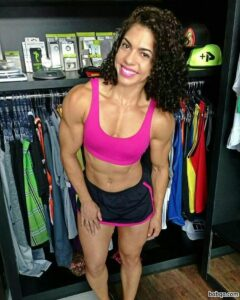 awesome female bodybuilder with fitness body and toned arms repost from facebook