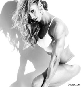 perfect female bodybuilder with strong body and toned arms photo from linkedin