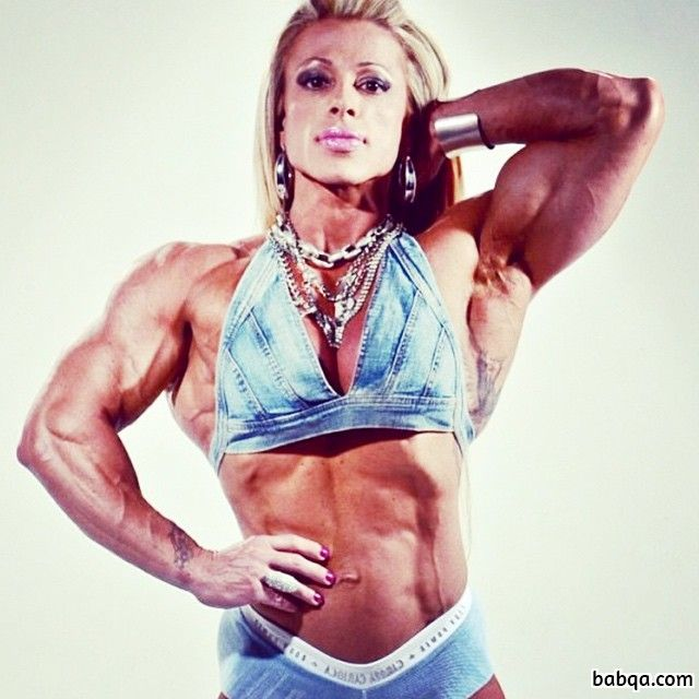 perfect chick with muscle body and toned arms image from insta