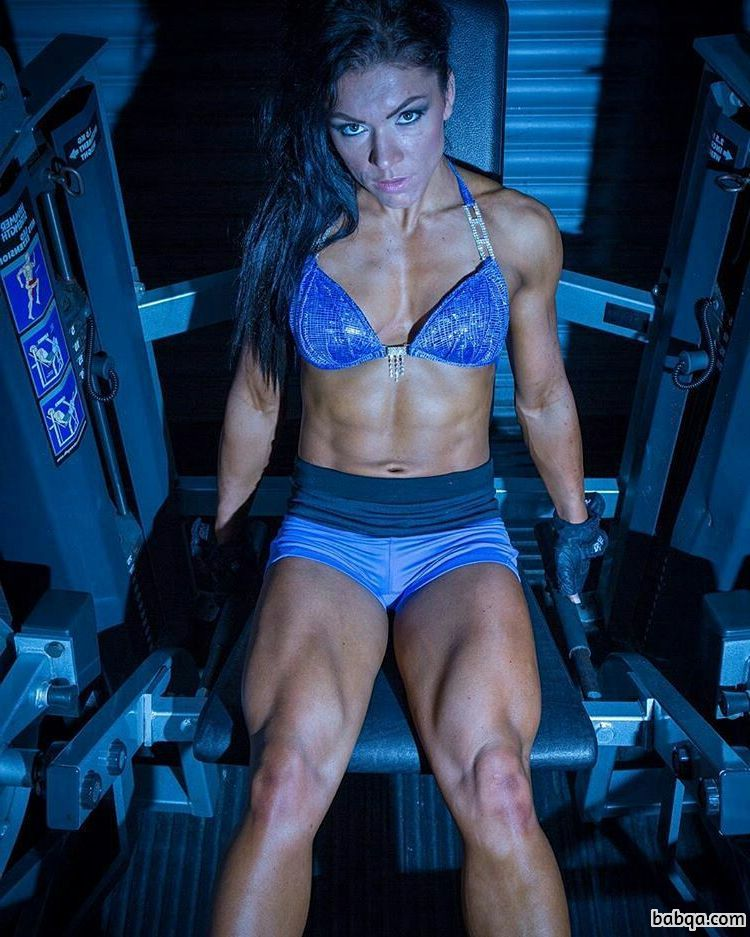 hot female with strong body and toned legs pic from linkedin