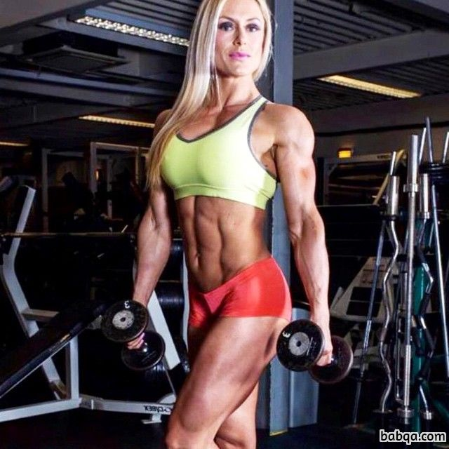 spicy woman with muscular body and muscle biceps photo from flickr