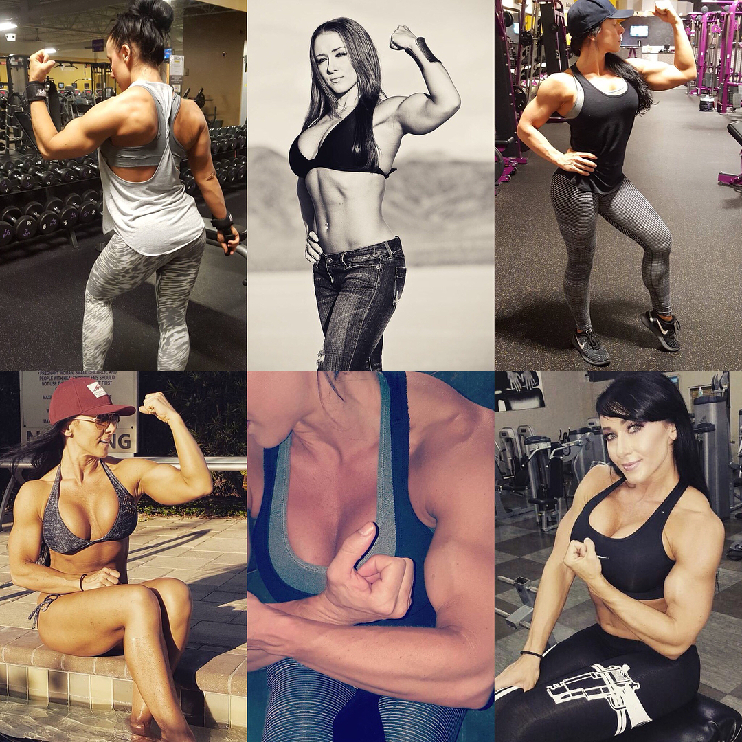 perfect girl with fitness body and toned biceps picture from instagram