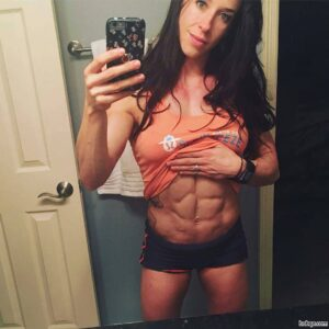 sexy woman with muscular body and toned arms picture from tumblr