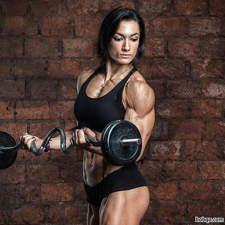 spicy lady with muscular body and muscle legs photo from linkedin