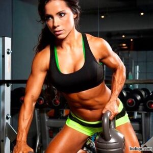 spicy babe with fitness body and muscle arms image from tumblr