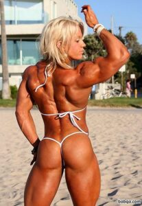 awesome female with muscular body and muscle booty pic from facebook