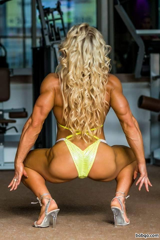 perfect woman with muscle body and muscle bottom picture from g+