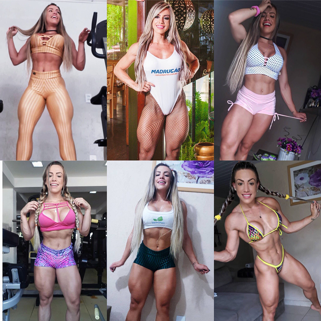 beautiful female bodybuilder with fitness body and muscle biceps photo from linkedin
