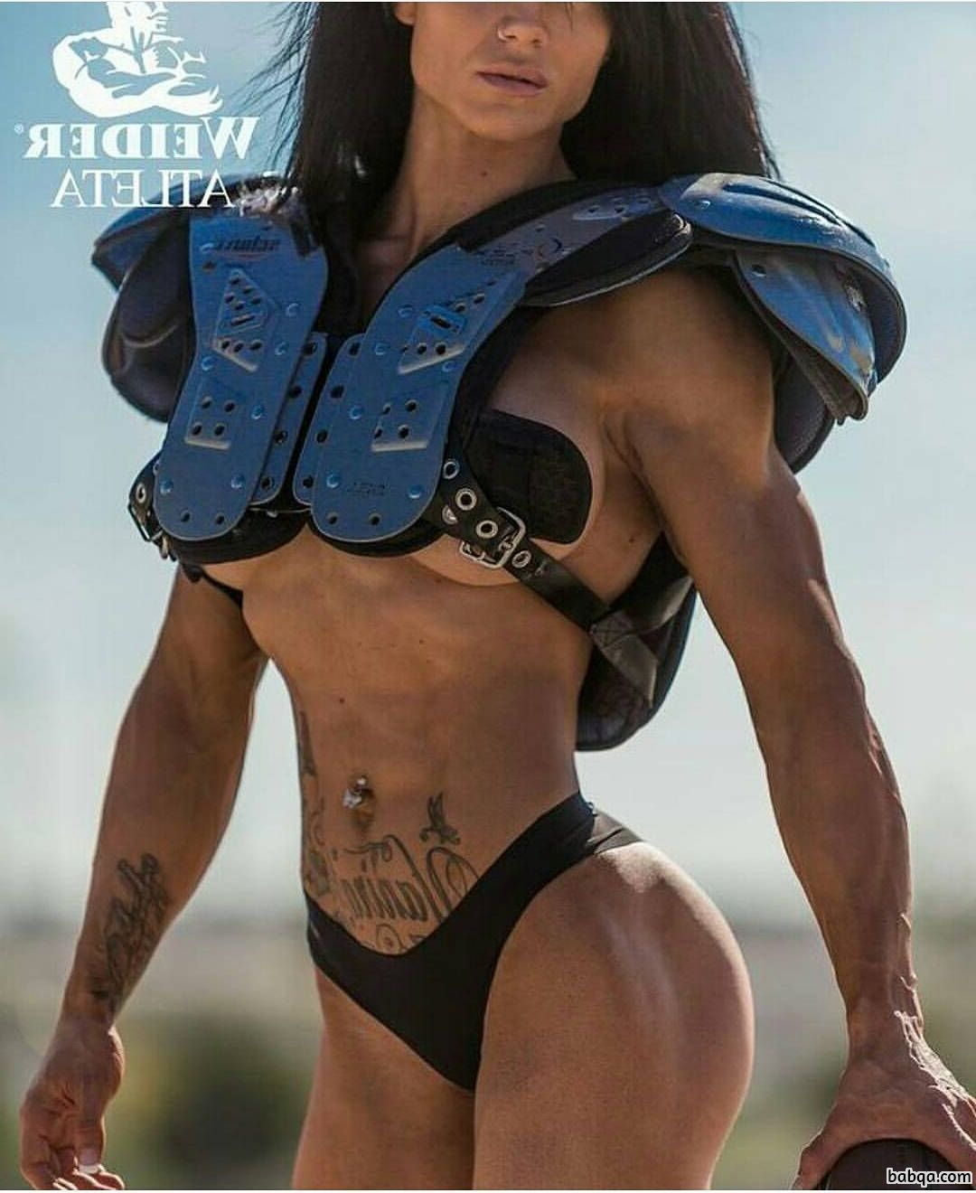 awesome babe with muscle body and toned biceps pic from facebook