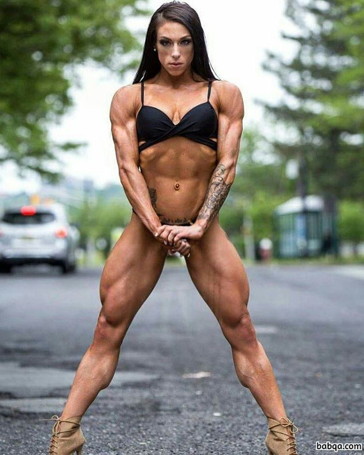 cute lady with strong body and toned arms repost from tumblr