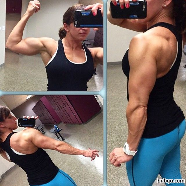 hottest female bodybuilder with strong body and toned arms post from reddit