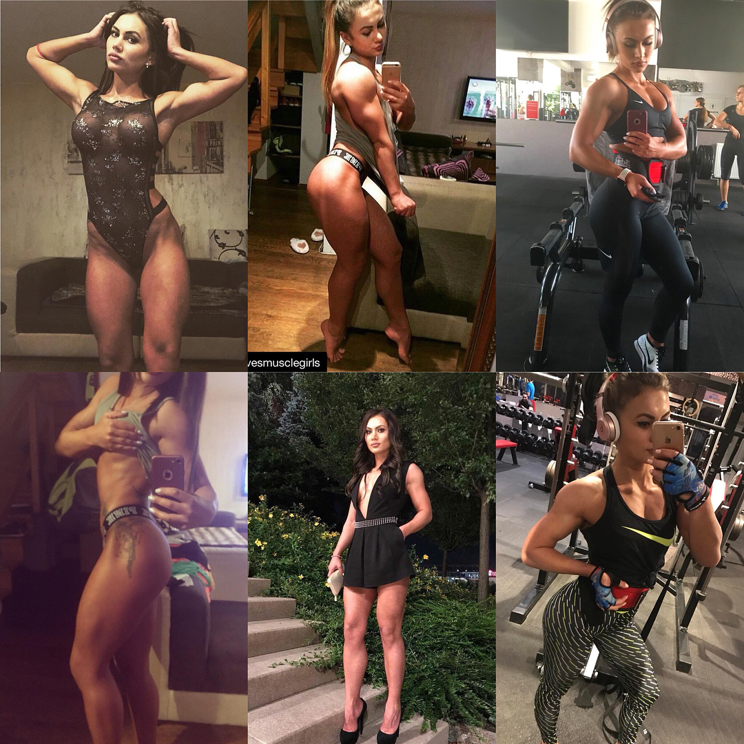 sexy chick with muscle body and toned booty post from g+