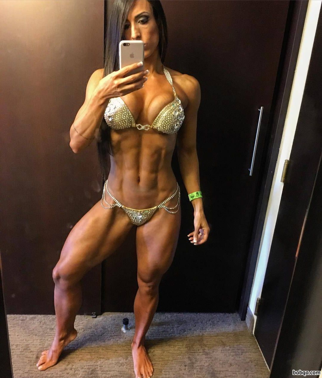 perfect babe with strong body and muscle arms repost from linkedin