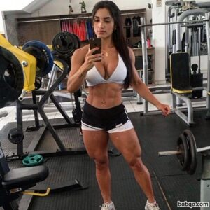 hottest girl with muscle body and muscle ass picture from insta