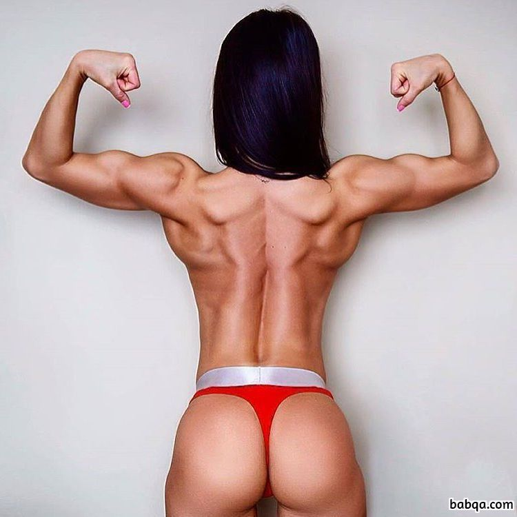 hottest female bodybuilder with strong body and toned legs picture from tumblr