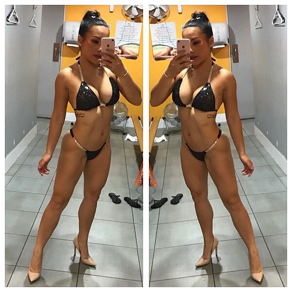 hot chick with strong body and muscle legs photo from facebook