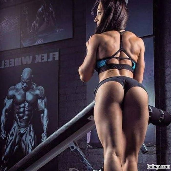 perfect female with fitness body and muscle booty pic from g+