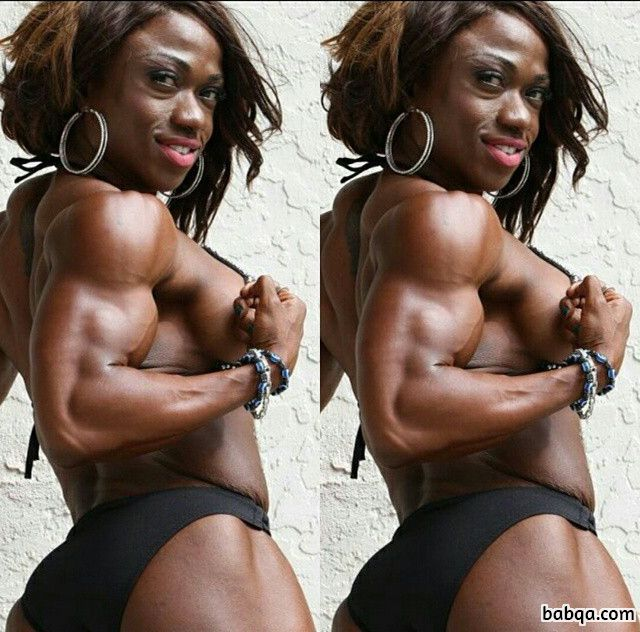 beautiful girl with fitness body and muscle legs picture from reddit