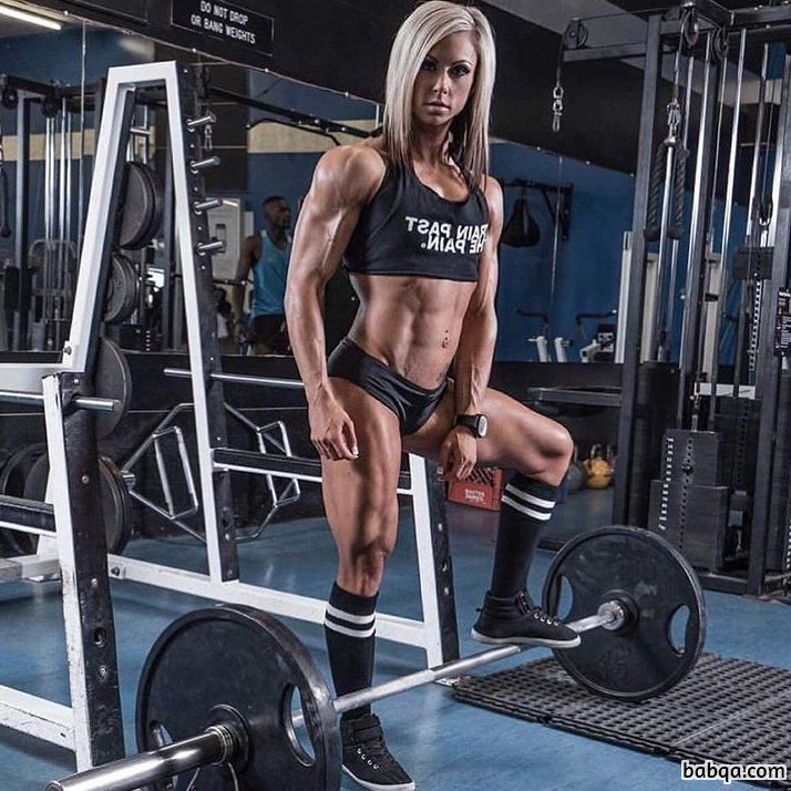 awesome female with strong body and toned legs pic from g+