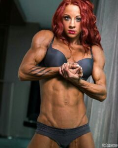 sexy female with muscle body and muscle biceps image from facebook