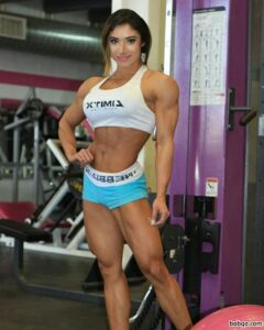 hot babe with fitness body and muscle legs photo from g+