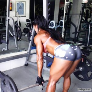 beautiful lady with muscular body and toned legs repost from tumblr