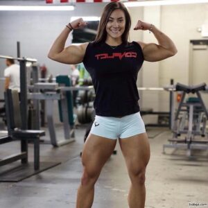 hot female with fitness body and toned legs post from g+
