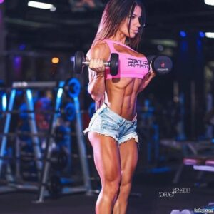 perfect chick with fitness body and toned biceps repost from flickr