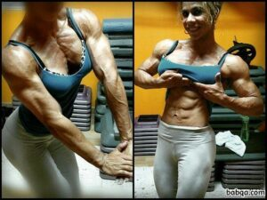 hottest lady with muscle body and toned bottom repost from g+