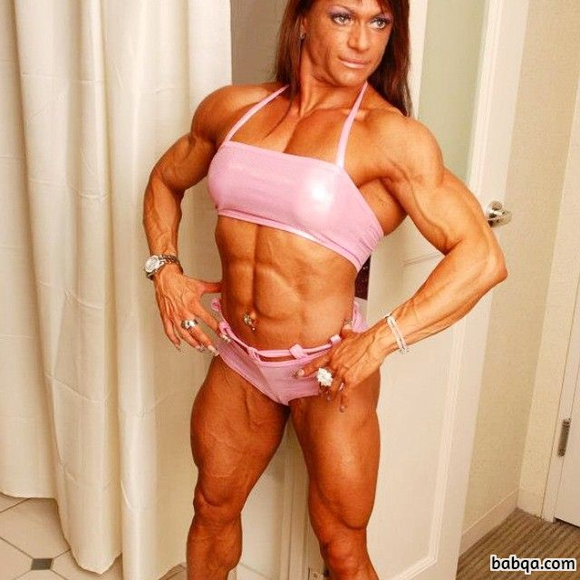 hottest woman with muscular body and muscle bottom image from linkedin
