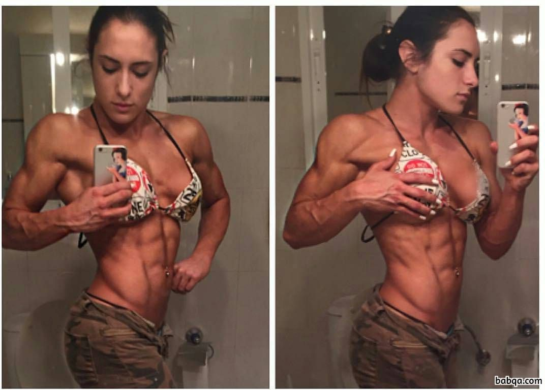 spicy female with muscular body and muscle ass pic from facebook