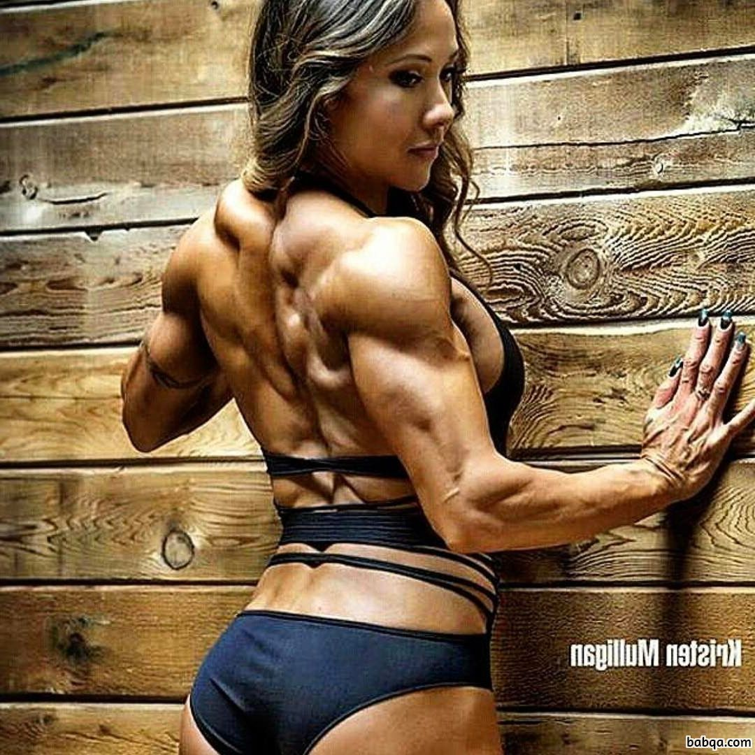 sexy woman with strong body and muscle legs pic from flickr