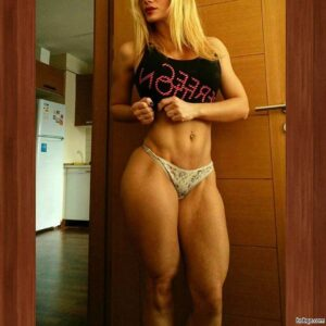 awesome babe with muscular body and muscle legs photo from linkedin