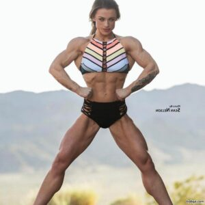 spicy chick with muscular body and muscle arms pic from linkedin