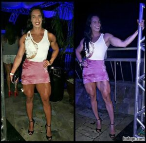 perfect woman with fitness body and toned legs image from facebook