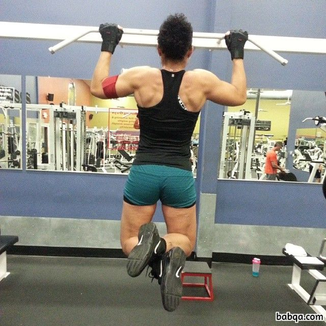awesome girl with muscle body and toned booty image from g+