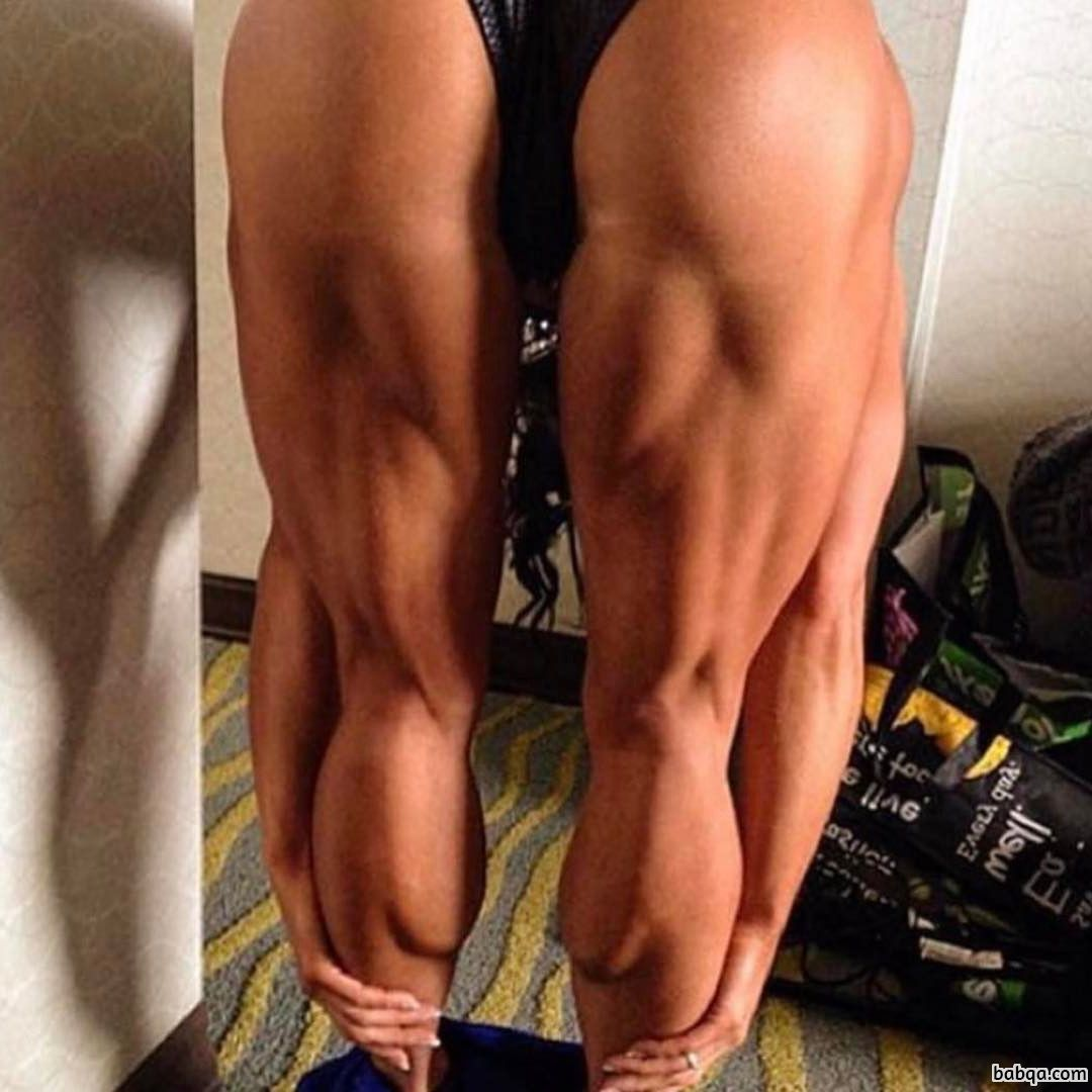 hot female bodybuilder with fitness body and toned arms pic from instagram