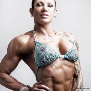 spicy female bodybuilder with muscle body and muscle arms image from flickr