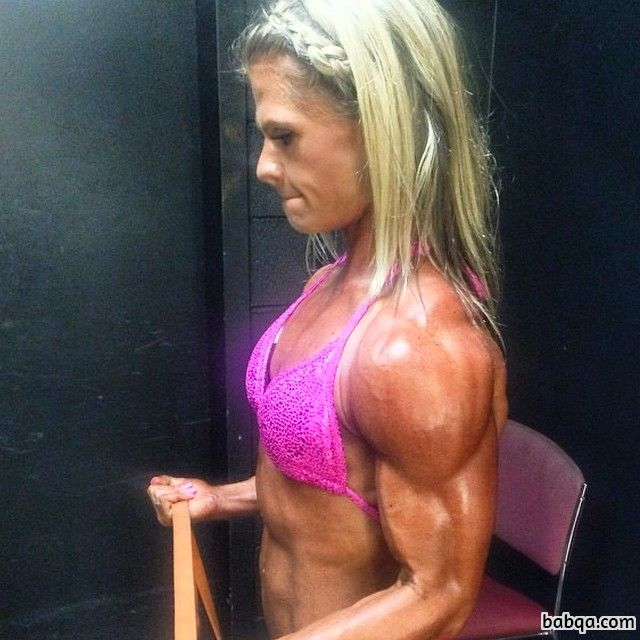 perfect female with fitness body and toned biceps photo from facebook