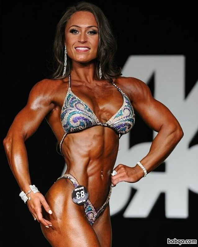 beautiful chick with strong body and muscle arms image from linkedin